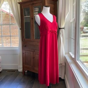 LOFT Red Stretch Maternity Dress, Size 4
